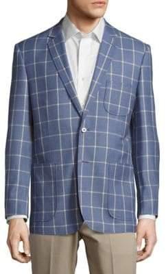 English Laundry Modern Fit Wool Windowpane Sportcoat
