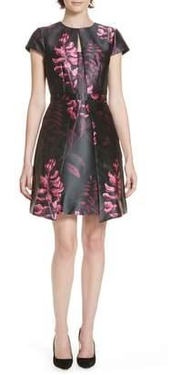 Ted Baker Jebby Splendor Jacquard Fit & Flare Dress