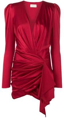Alexandre Vauthier v-neck silk dress