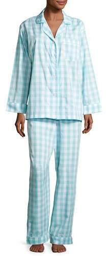 BedHeadBedhead Gingham Pajama Set, Aqua