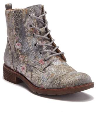 Sofft Belton Floral Embossed Leather Lace-Up Boot