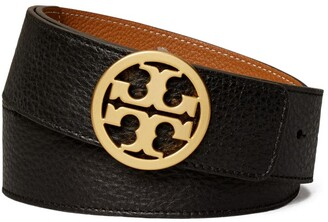 "Tory Burch 1 1/2"" REVERSIBLE LOGO BELT"