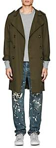 NSF Men's Cotton Twill Trench Coat-Olive Size L