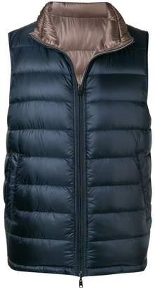 Herno reversible zipped padded vest