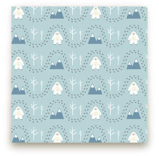 Abominable Snowman Fabric