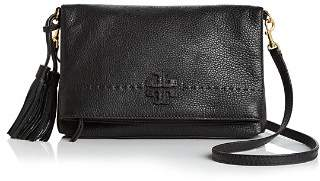 Tory Burch McGraw Fold-Over Leather Crossbody