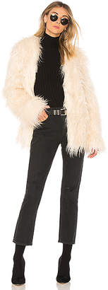 MinkPink OTT Long Luxe Fur Jacket