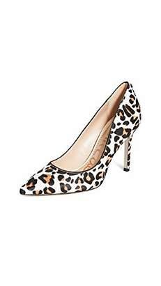 Sam Edelman Womens Hazel White/Brown Pop Leopard Brahma Hair 5 M