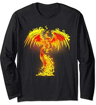 Ghotic Style Burning Phoenix T-Shirt Gift For Motorcyclist