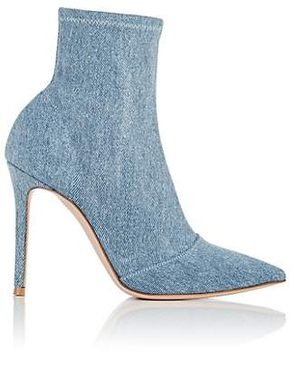 Gianvito Rossi Women's Denim Ankle Boots - Lt. Blue