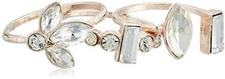 GUESS Ring Update Women's 3 Piece Stone Stackable Ring