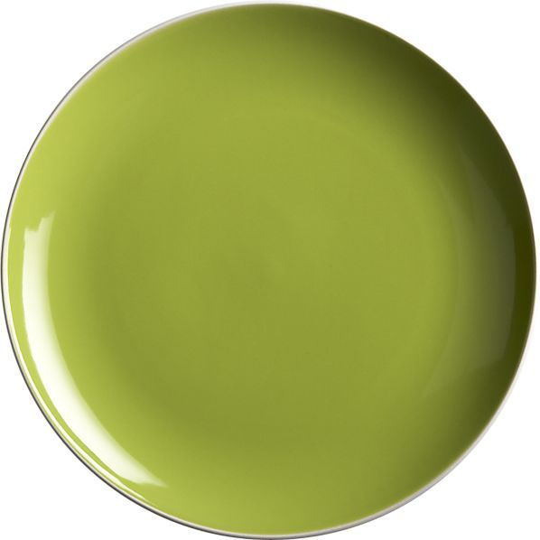 Crate & Barrel Max Green Dinner Plate