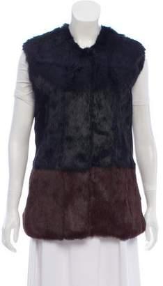 Love Token Colorblock Fur Vest w/ Tags