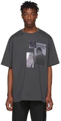 Juun.J Grey Print T-Shirt