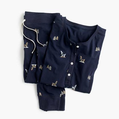 J.CrewReindeer knit pajama set