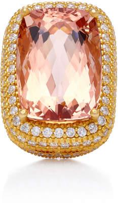 Sara Weinstock 18K Gold Morganite And Diamond Ring