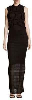 Ronny Kobo Lace Floor-Length Dress