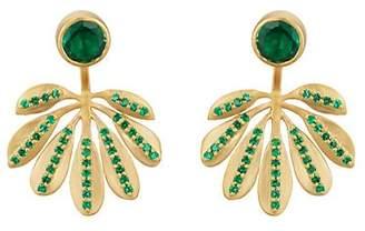 Eye M Women's Small Jungle-Leaf Ear Jackets - Gold