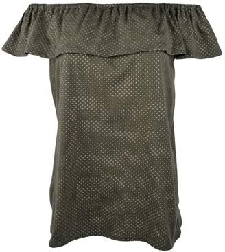 Michael Kors Michael Women's Off-The-Shoulders Flounce Top-I-XL