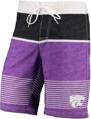 Trunks G Iii Men's G-III Sports by Carl Banks Purple/Black Kansas State Wildcats Double Play Swim