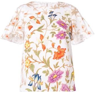 Peter Pilotto botanical print blouse