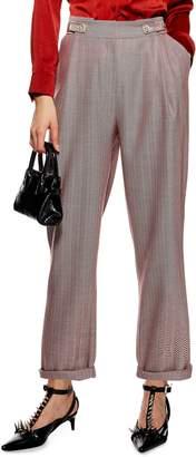 Topshop Herringbone Mensy Trousers