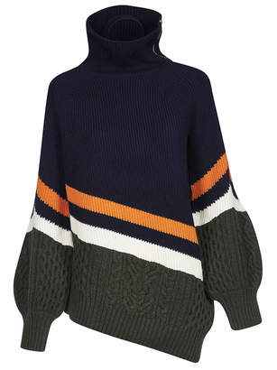 Sacai Asymmetric Hem Sweater