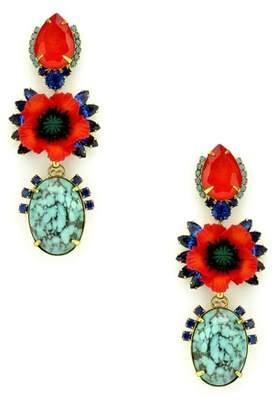 Elizabeth Cole Zula Crystal Drop Earrings