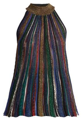 Missoni (ミッソーニ) - MISSONI Striped crochet-knit top