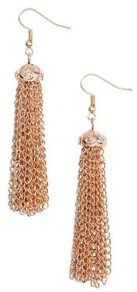 Women's Elise M. Fortuna Chain Tassel Earrings $20 thestylecure.com