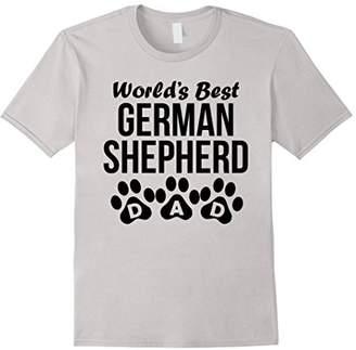Men's World's Best German Shepherd Dad Paw Prints T-Shirt
