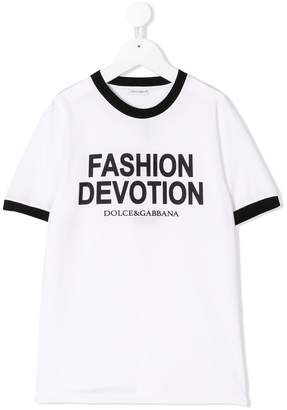 Dolce & Gabbana Fashion Devotion print T-shirt