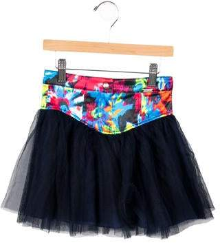 Junior Gaultier Girls' Tie-Dye Tulle Skirt w/ Tags
