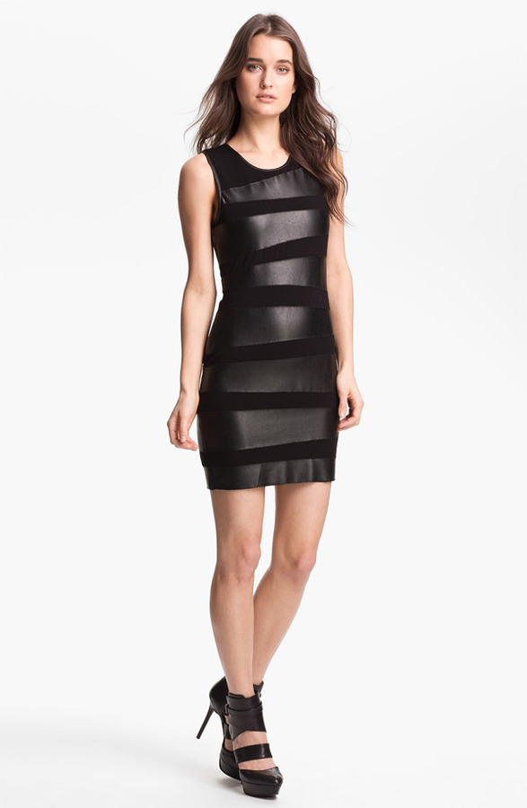 Bailey 44 B44 Dressed by 'Toro' Faux Leather Bandage Dress