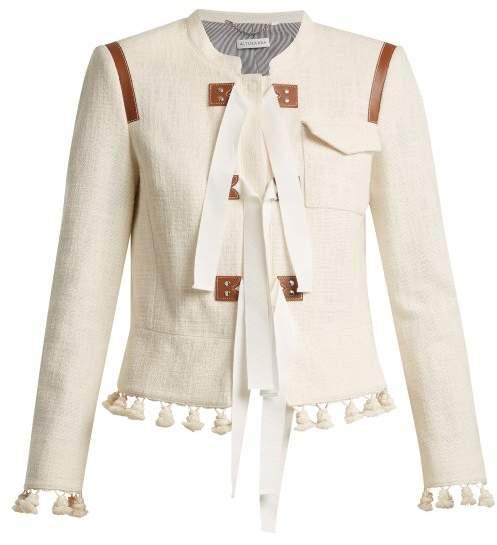 Avenue tie-detail jacket