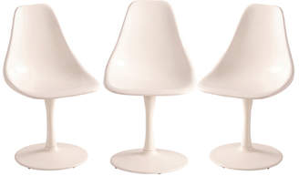 Rejuvenation Set of 3 Fiberglass Tulip Chairs by Louisville Chair Co