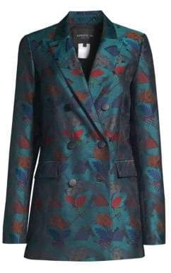 Lafayette 148 New York Slade Empress Printed Double Breasted Blazer