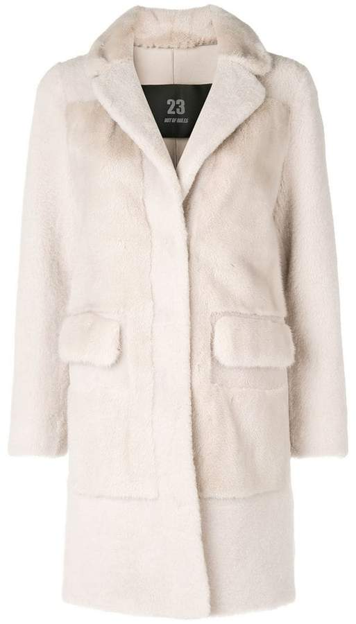 23 Out Of Rules mesh fur coat