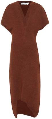 Victoria Beckham Curved-hem knit midi dress