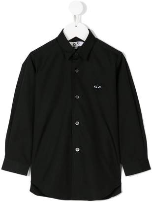 Comme des Garcons Kids heart embroidered shirt
