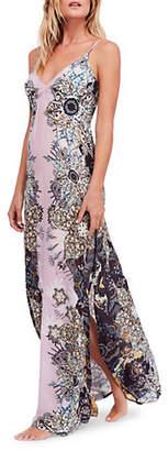 Free People Wildflower Printed Maxi Slip Dress