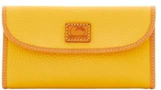 Dooney & Bourke Patterson Leather Continental Clutch Wallet - DANDELION - STYLE