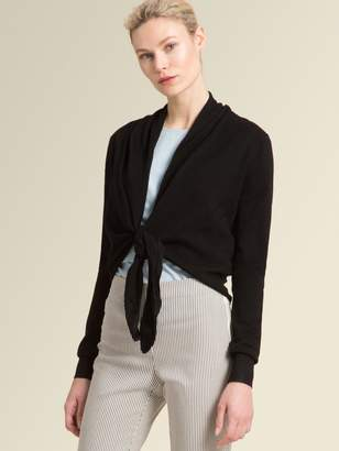 DKNY Tie-Front Cardigan