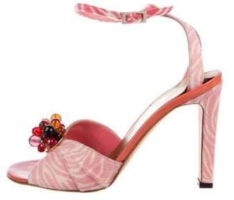 Gianni Versace Ponyhair Ankle Strap Sandals