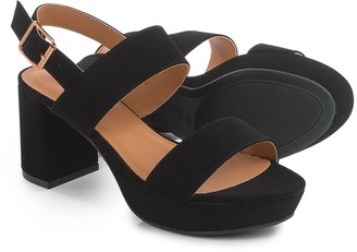 Bamboo Camille Heeled Sandals - Vegan Leather (For Women) $24.99 thestylecure.com