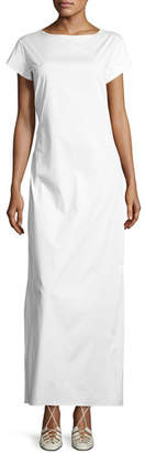 The Row Muriel Short-Sleeve Maxi Dress, White