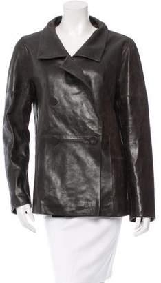 Chloé Leather Double-Breasted Jacket
