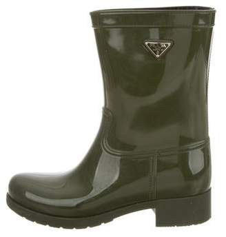 Prada Rubber Rain Boots