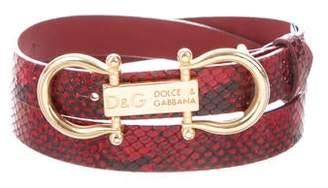 Dolce & Gabbana Snakeskin Hip Belt