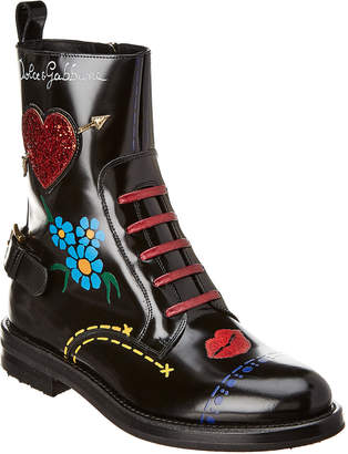 Dolce & Gabbana Embellished Leather Boot